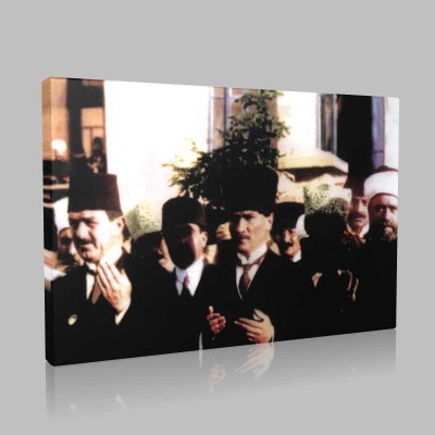 Renkli Atatürk Resimleri 209 Kanvas Tablo