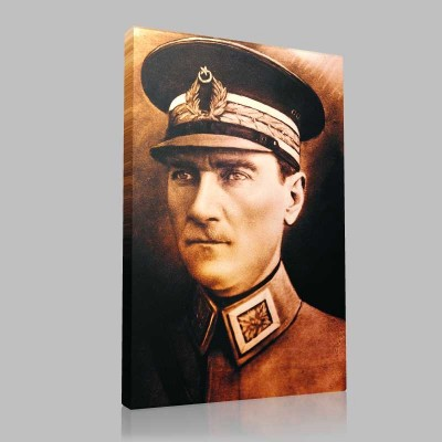 Renkli Atatürk Resimleri 21 Kanvas Tablo