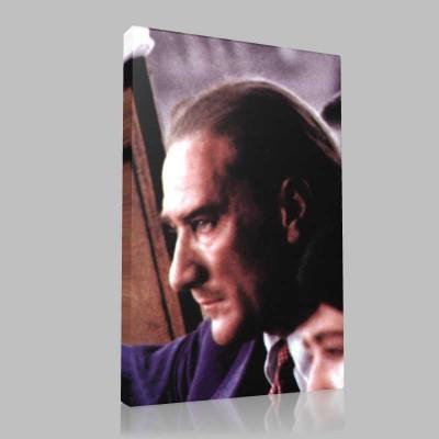Renkli Atatürk Resimleri 211 Kanvas Tablo