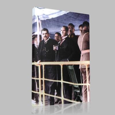Renkli Atatürk Resimleri 212 Kanvas Tablo