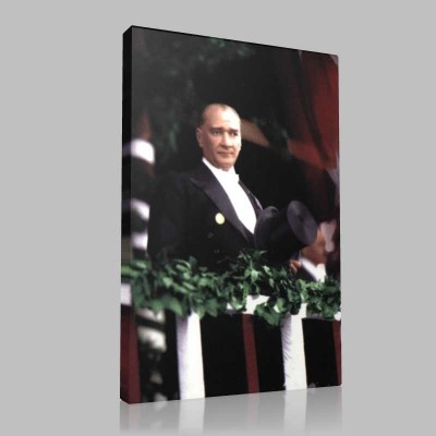 Renkli Atatürk Resimleri 213 Kanvas Tablo