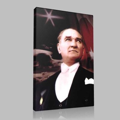 Renkli Atatürk Resimleri 215 Kanvas Tablo