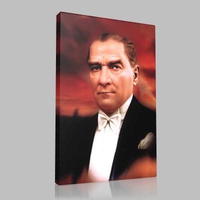 Renkli Atatürk Resimleri 216 Kanvas Tablo