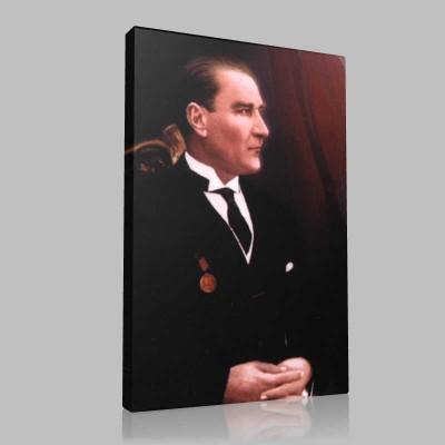 Renkli Atatürk Resimleri 217 Kanvas Tablo