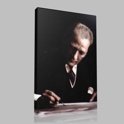 Renkli Atatürk Resimleri 218 Kanvas Tablo