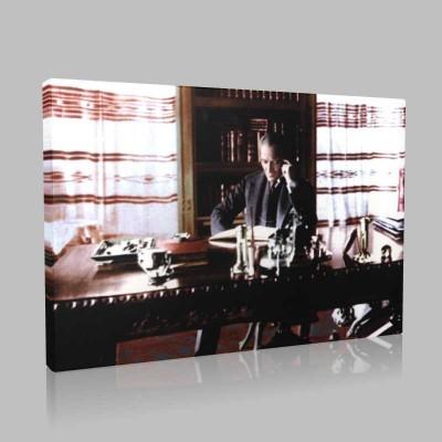 Renkli Atatürk Resimleri 219 Kanvas Tablo