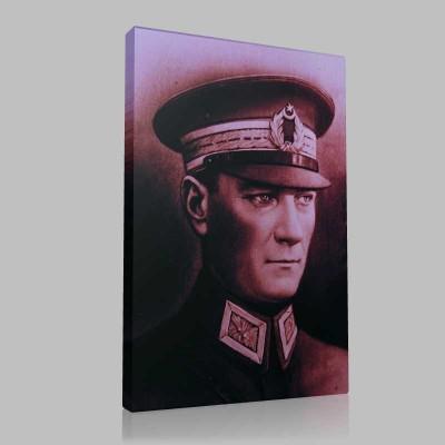 Renkli Atatürk Resimleri 22 Kanvas Tablo