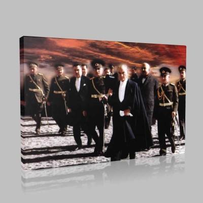 Renkli Atatürk Resimleri 222 Kanvas Tablo