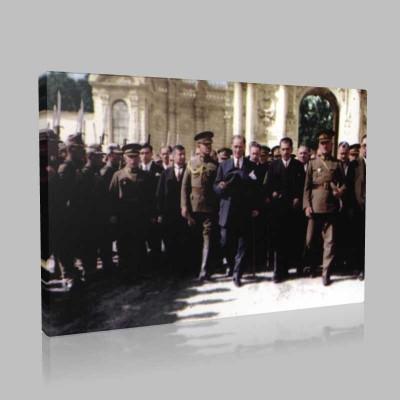Renkli Atatürk Resimleri 223 Kanvas Tablo