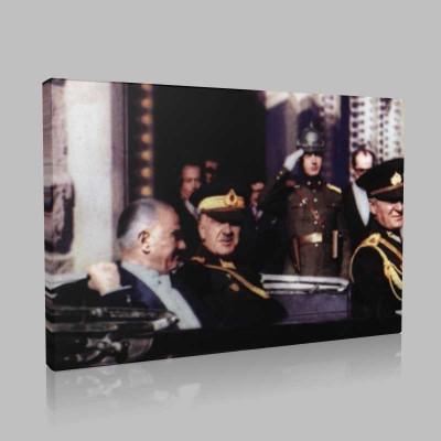 Renkli Atatürk Resimleri 225 Kanvas Tablo