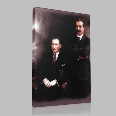 Renkli Atatürk Resimleri 228 Kanvas Tablo