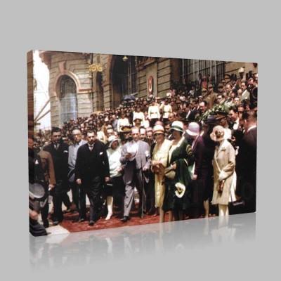 Renkli Atatürk Resimleri 230 Kanvas Tablo