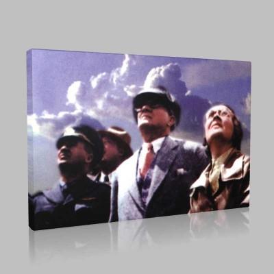 Renkli Atatürk Resimleri 231 Kanvas Tablo
