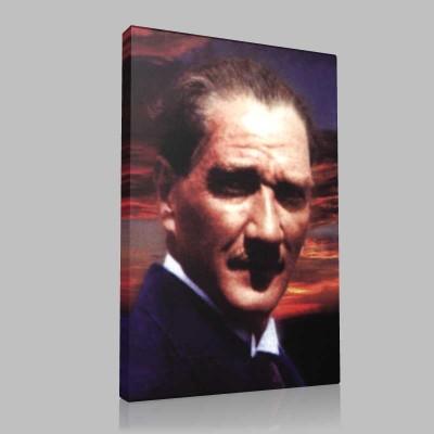 Renkli Atatürk Resimleri 232 Kanvas Tablo