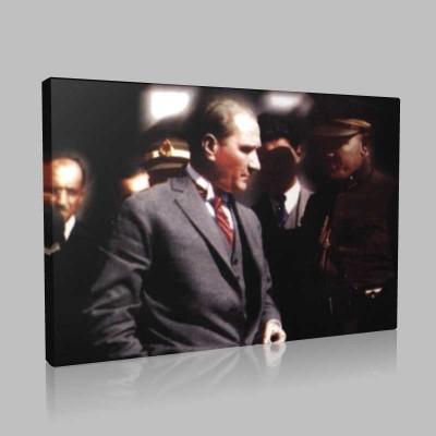 Renkli Atatürk Resimleri 233 Kanvas Tablo