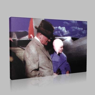 Renkli Atatürk Resimleri 235 Kanvas Tablo
