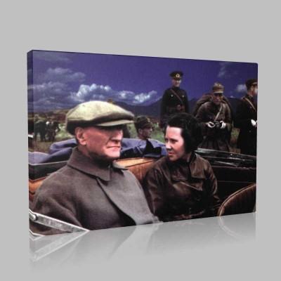 Renkli Atatürk Resimleri 236 Kanvas Tablo