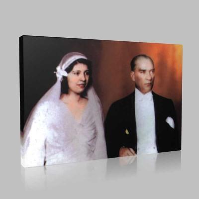 Renkli Atatürk Resimleri 237 Kanvas Tablo