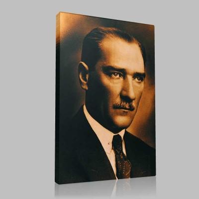 Renkli Atatürk Resimleri 24 Kanvas Tablo