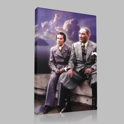 Renkli Atatürk Resimleri 240 Kanvas Tablo