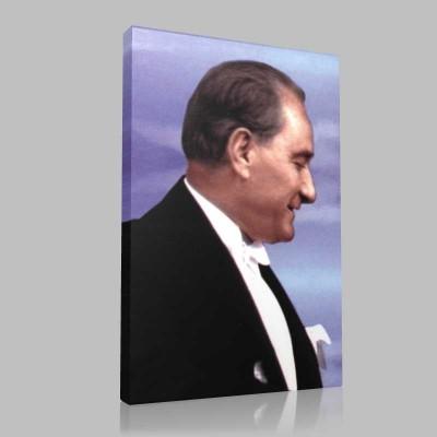 Renkli Atatürk Resimleri 242 Kanvas Tablo