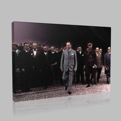 Renkli Atatürk Resimleri 248 Kanvas Tablo
