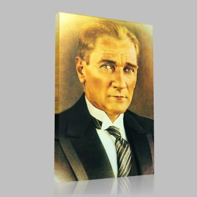 Renkli Atatürk Resimleri 25 Kanvas Tablo