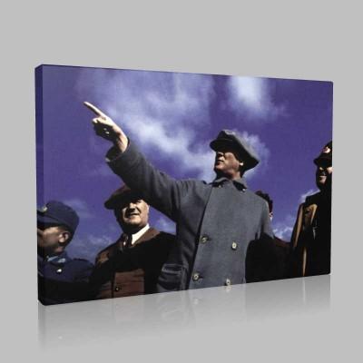 Renkli Atatürk Resimleri 251 Kanvas Tablo