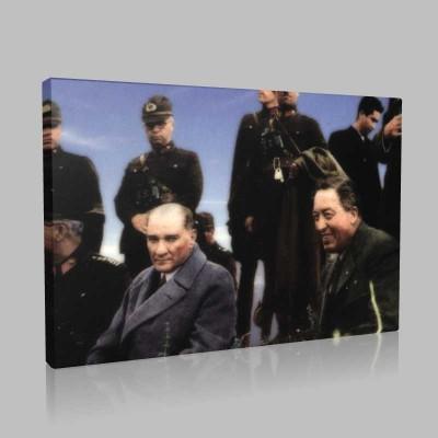 Renkli Atatürk Resimleri 252 Kanvas Tablo