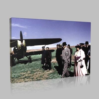 Renkli Atatürk Resimleri 254 Kanvas Tablo