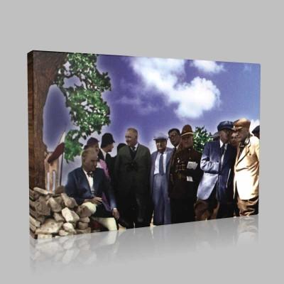 Renkli Atatürk Resimleri 255 Kanvas Tablo