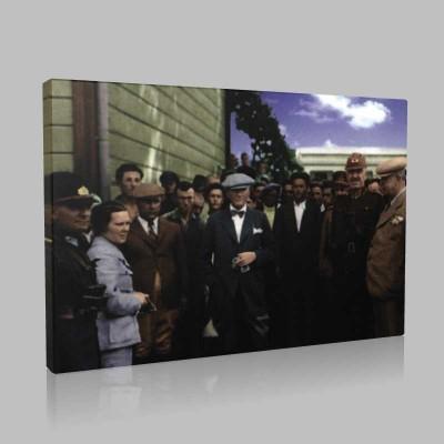 Renkli Atatürk Resimleri 256 Kanvas Tablo