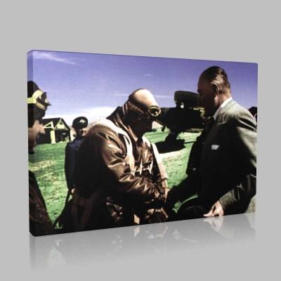 Renkli Atatürk Resimleri 257 Kanvas Tablo
