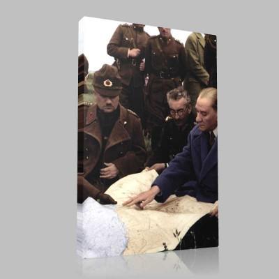 Renkli Atatürk Resimleri 258 Kanvas Tablo