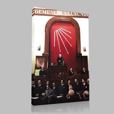 Renkli Atatürk Resimleri 259 Kanvas Tablo