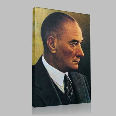 Renkli Atatürk Resimleri 26 Kanvas Tablo