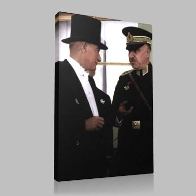 Renkli Atatürk Resimleri 263 Kanvas Tablo