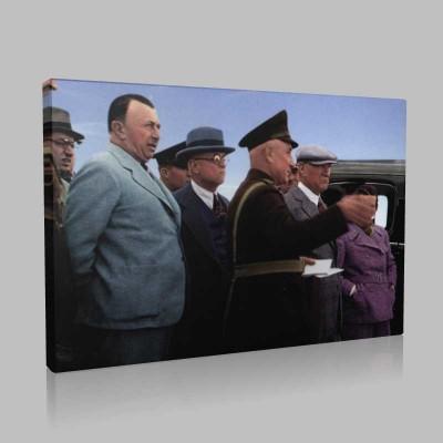 Renkli Atatürk Resimleri 265 Kanvas Tablo