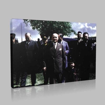 Renkli Atatürk Resimleri 267 Kanvas Tablo