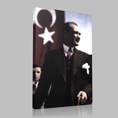 Renkli Atatürk Resimleri 269 Kanvas Tablo