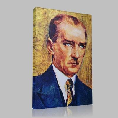 Renkli Atatürk Resimleri 27 Kanvas Tablo