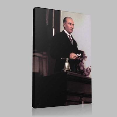 Renkli Atatürk Resimleri 271 Kanvas Tablo