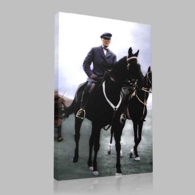 Renkli Atatürk Resimleri 273 Kanvas Tablo