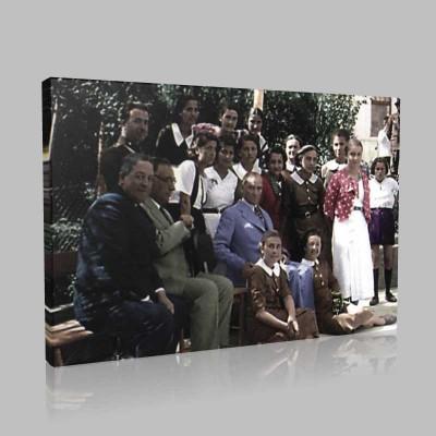 Renkli Atatürk Resimleri 278 Kanvas Tablo