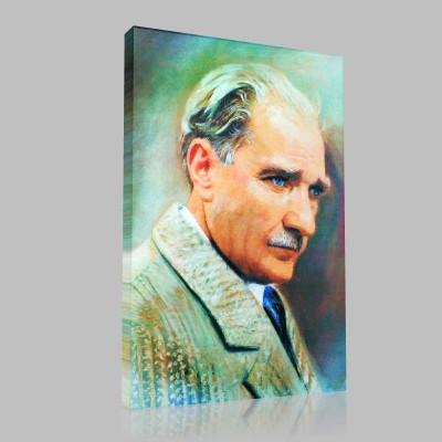 Renkli Atatürk Resimleri 28 Kanvas Tablo