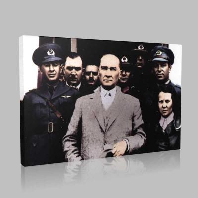 Renkli Atatürk Resimleri 280 Kanvas Tablo