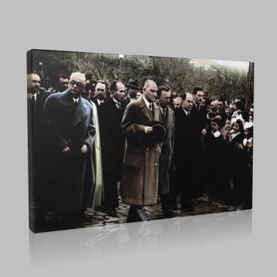 Renkli Atatürk Resimleri 281 Kanvas Tablo