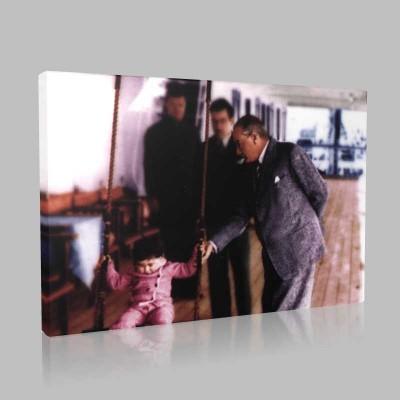 Renkli Atatürk Resimleri 283 Kanvas Tablo