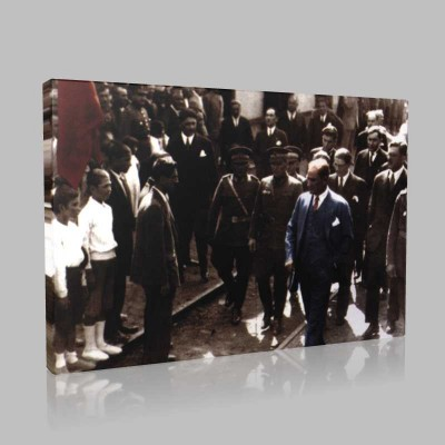 Renkli Atatürk Resimleri 284 Kanvas Tablo
