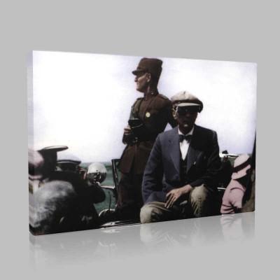 Renkli Atatürk Resimleri 287 Kanvas Tablo